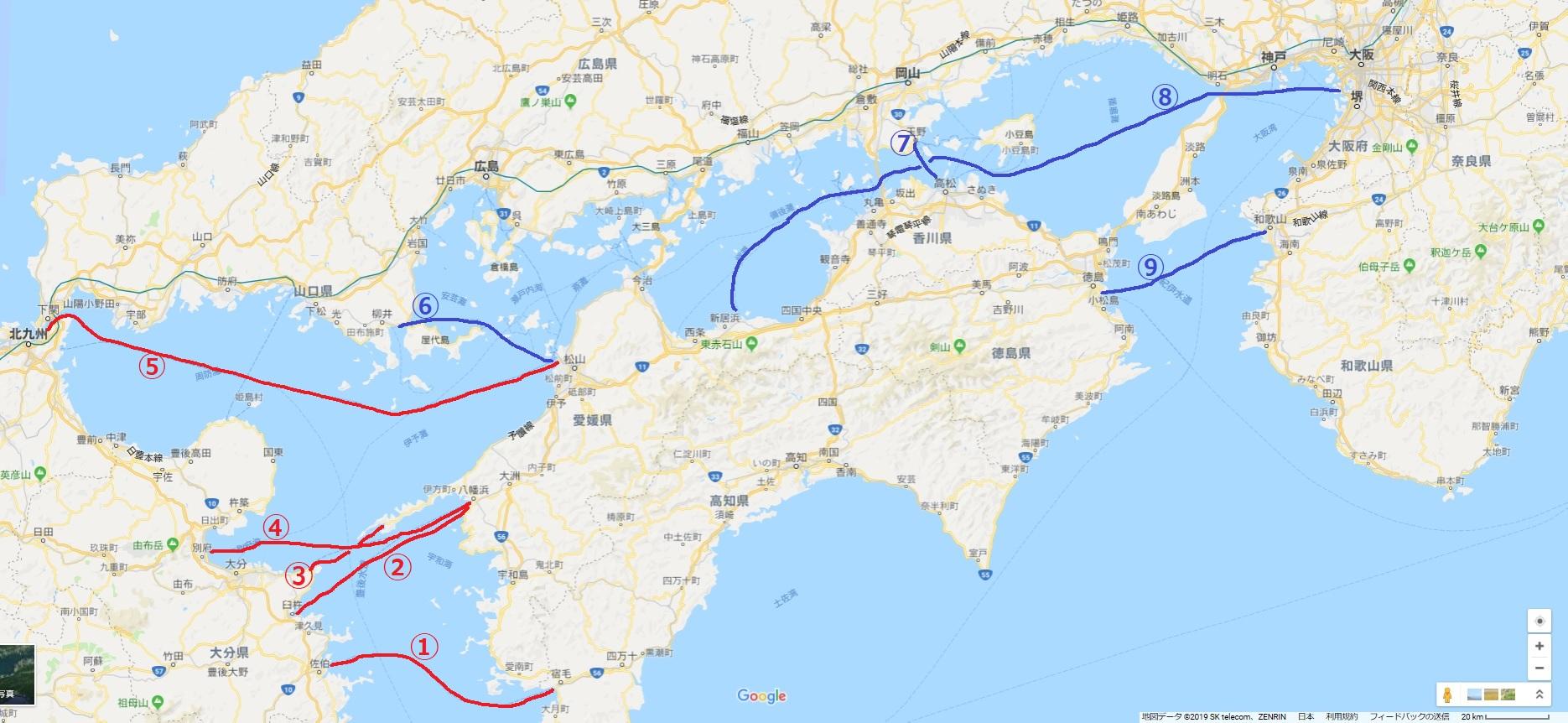【四国に行きたい】四国に行く短中距離フェリーをまとめてみた